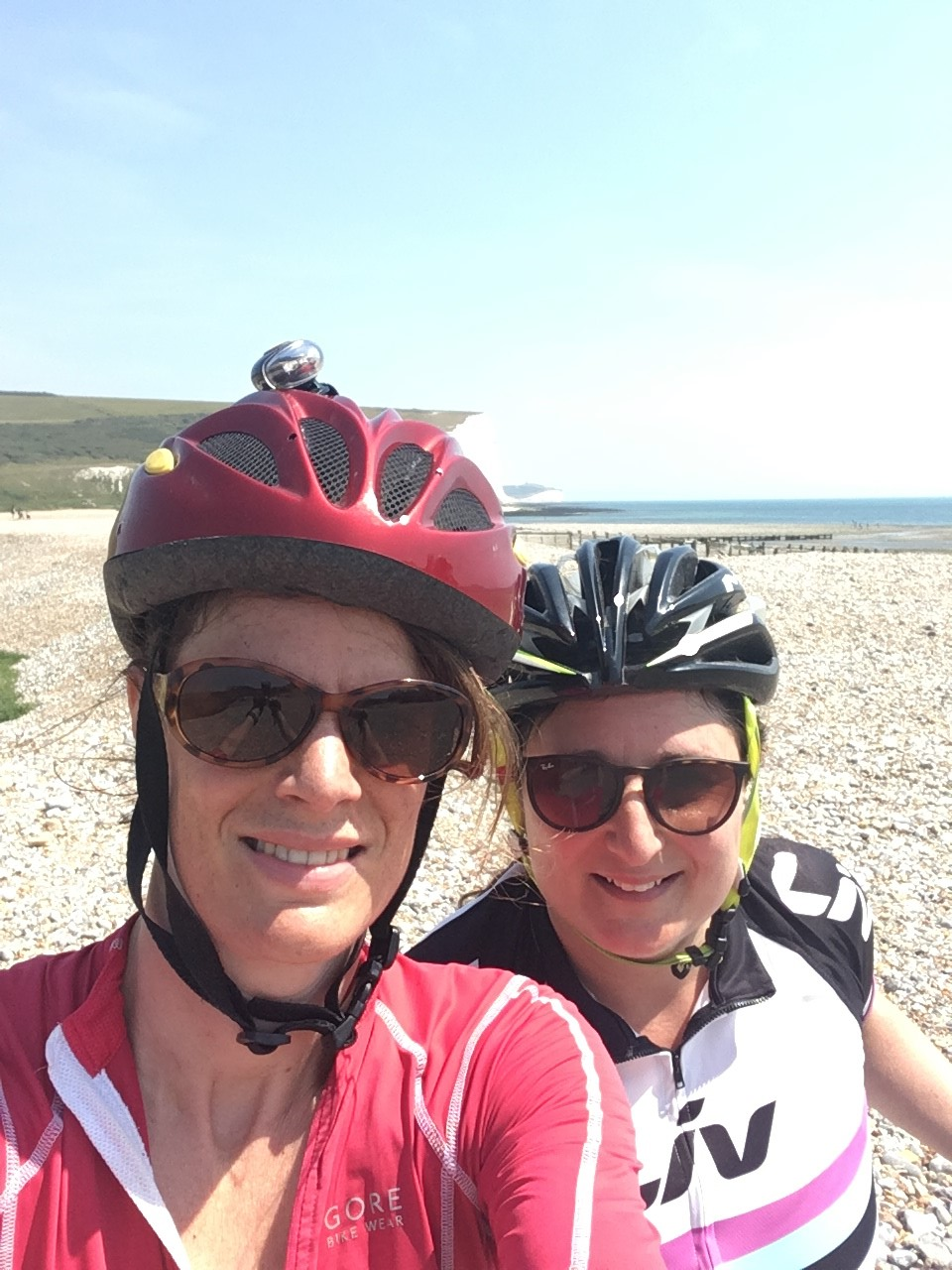 Anna and Sharon on the Radlett2Paris ride